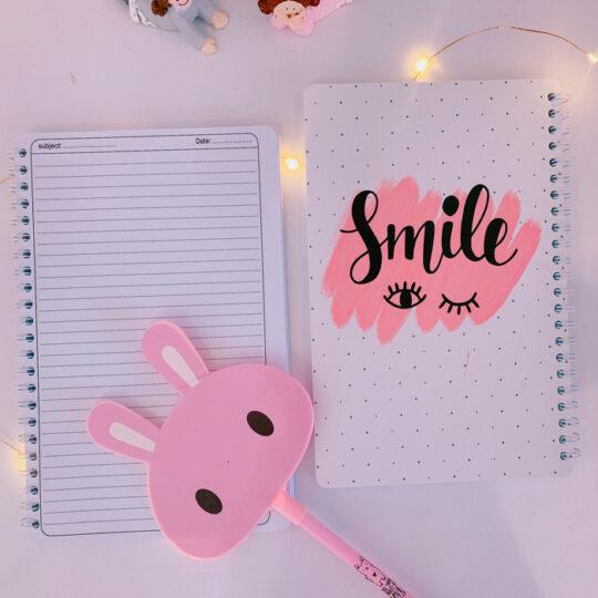 دفتر فانتزی طرح Smile و School